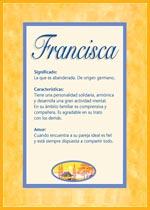 Nombre Francisca