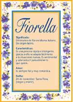 Origen y significado de Fiorella