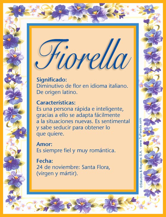 Fiorella, imagen de Fiorella