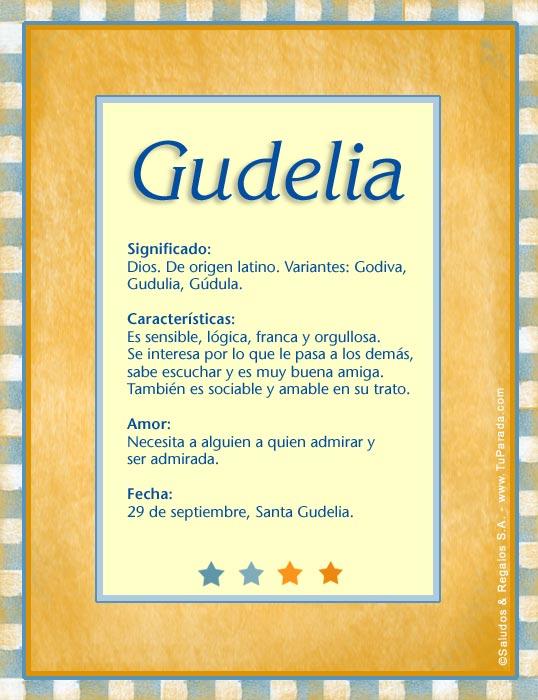 Gudelia, imagen de Gudelia