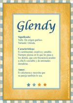 Nombre Glendy