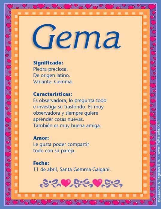 Gema, imagen de Gema