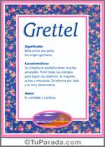 Nombre Grettel