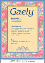 Nombre Gaely