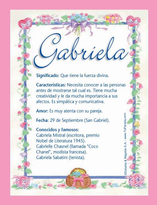 Gabriela, imagen de Gabriela