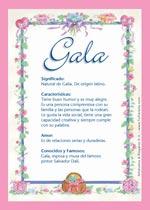 Nombre Gala