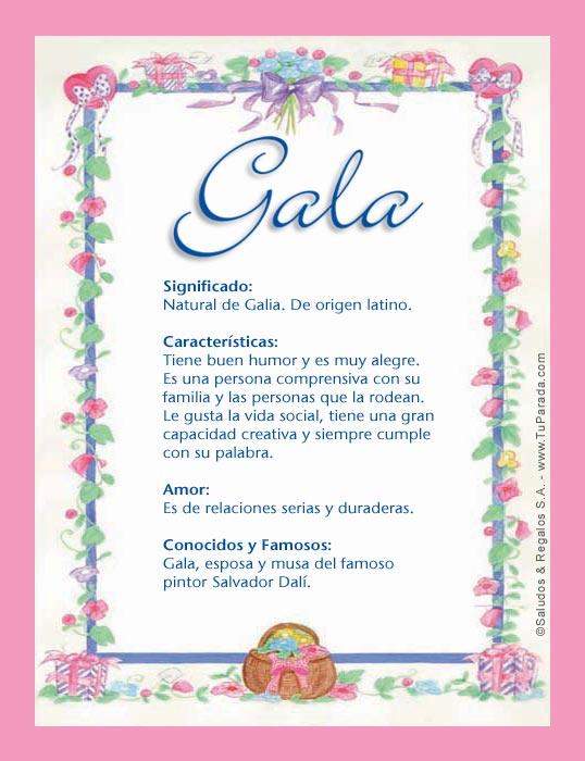 Gala, imagen de Gala