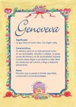 Nombre Genoveva