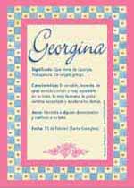 Origen y significado de Georgina