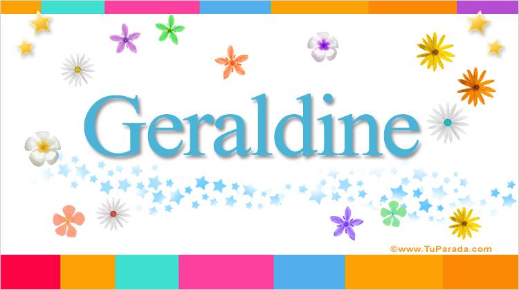 Geraldine, imagen de Geraldine