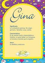 Nombre Gina