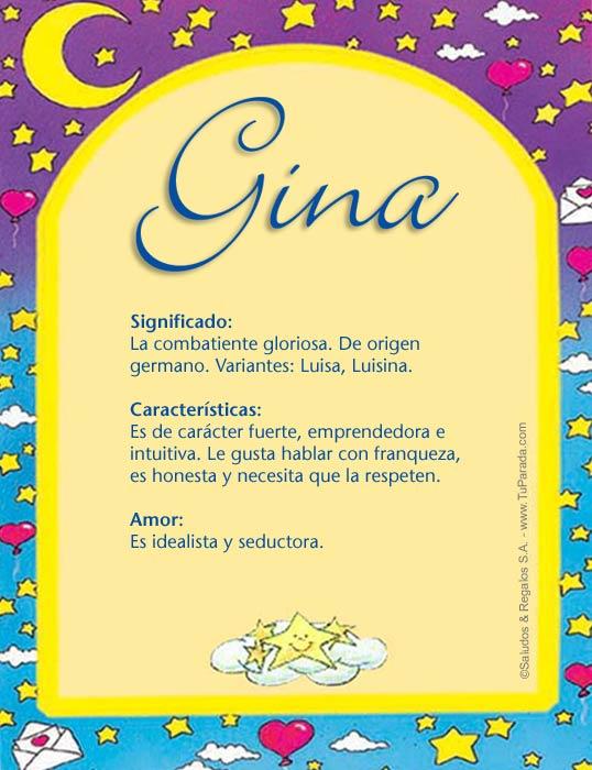 Gina, imagen de Gina