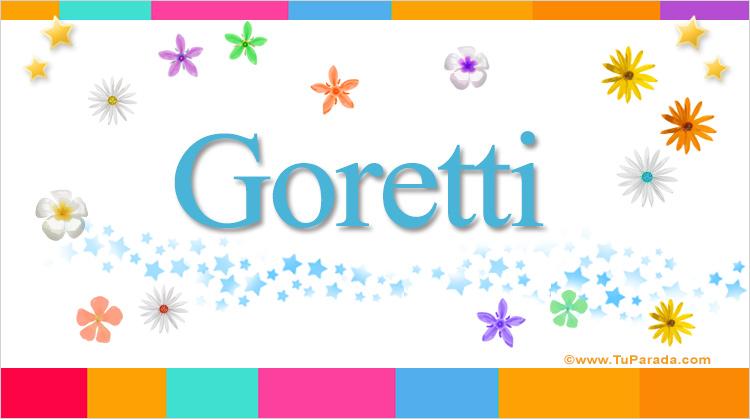 Goretti, imagen de Goretti
