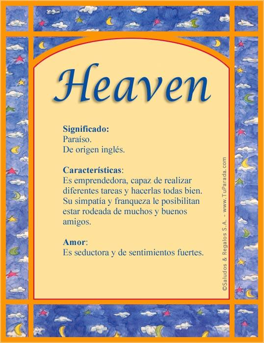 Heaven, imagen de Heaven