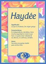 Origen y significado de Haydée