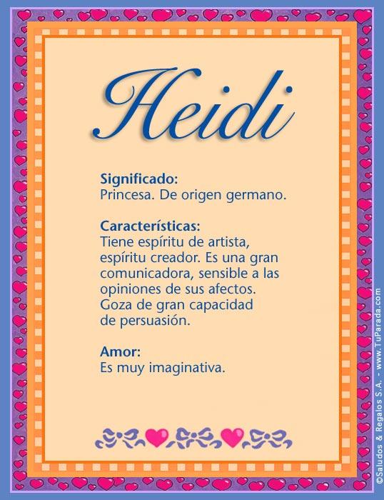 Heidi, imagen de Heidi