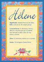 Nombre Hélene