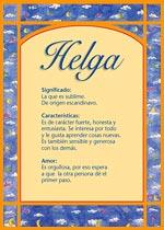Nombre Helga