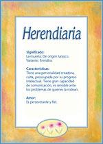 Nombre Herendiaria