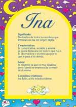 Origen y significado de Ina