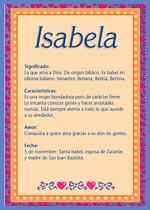 Nombre Isabela