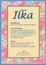 Nombre Ilka