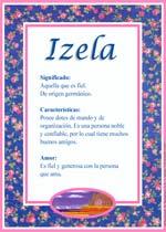 Nombre Izela