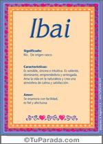 Nombre Ibai