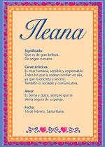 Nombre Ileana