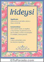 Nombre Irideysi