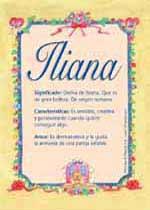 Origen y significado de Iliana