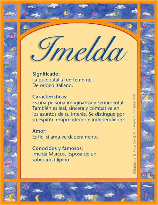 Imelda, imagen de Imelda