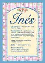 Origen y significado de Inés