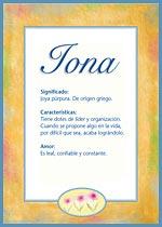 Nombre Iona