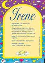 Origen y significado de Irene