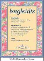 Nombre Isagleidis