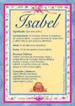 Nombre Isabel