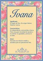 Nombre Ivana
