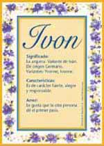 Nombre Ivon
