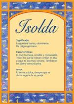 Nombre Isolda