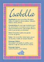 Nombre Isabella