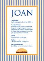 Origen y significado de Joan