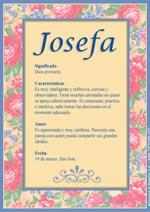 Nombre Josefa