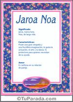 Nombre Jaroa Noa