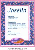 Nombre Joselin