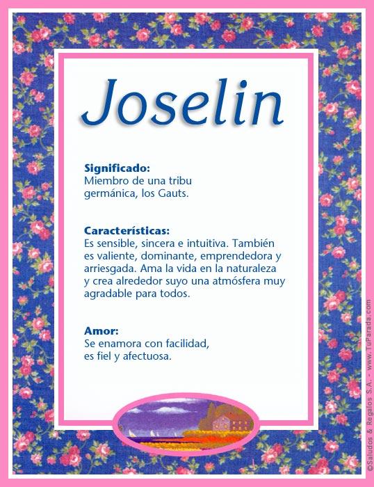 Joselin, imagen de Joselin