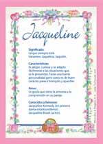 Origen y significado de Jacqueline