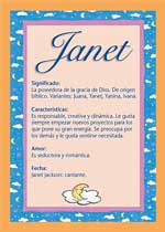 Origen y significado de Janet