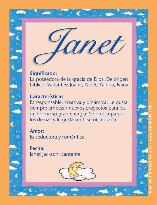 Janet, imagen de Janet