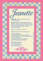 Nombre Jeanette